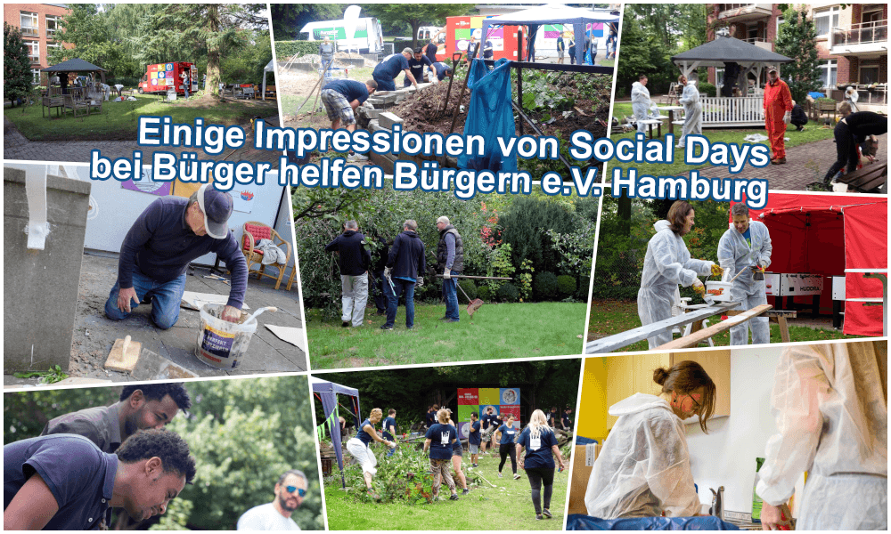 Impressionen von Socialday bei Bürger heelfen Bürgern e.V. Hamburg