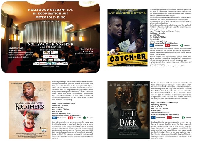 Nollywood Germany Fimlfestival 2019 im Metropolis Kino Hamburg